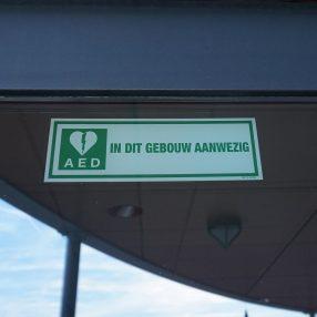 AED in dit gebouw aanwezig